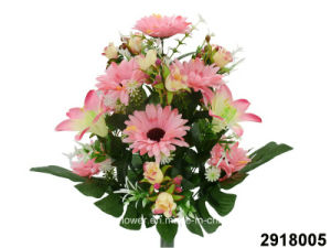 Artificial/Plastic/Silk Flower Lily/Gerbera Mixed Bush (2918005) pictures & photos