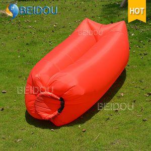 DIY Lazy Bag Air Inflation Beach Beds Banana Sleeping Bag Inflatable Sofa Air Bed