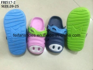 Latest Kid EVA Pig Garden Shoes Slipper (FBJ517-2) pictures & photos