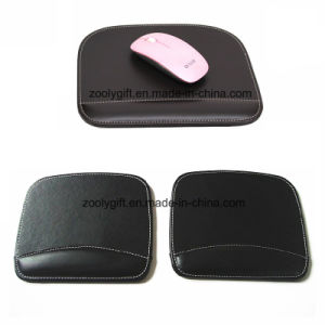 Quality Mouse Pad with Wrist Rest Custom Personalized Black / Brown PU Leather Mouse Pads Wholesale pictures & photos
