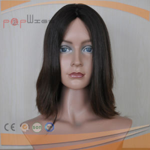 European Hair Full Hand Tied Lace Black Color Women Wig pictures & photos