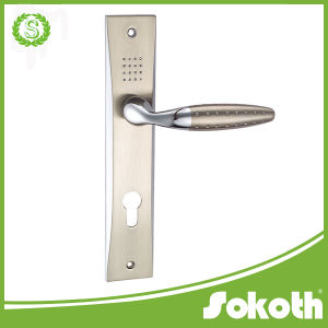 European Aluminium Door Handle with Long Plate pictures & photos