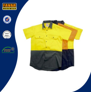 Summer Cotton High Vis Protect Short Sleeve Shirt pictures & photos
