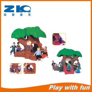 Outdoor Playground Magic Tree Plastic Slide for Kids pictures & photos