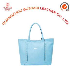 Women Leisure Simple Design Blue Tote Handbag for Promotion