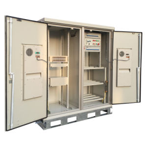 Outdoor Aluminum Cabinet with 2 Doors for Telecom Industry