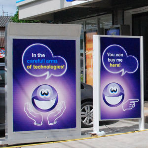 Double Side Outdoor Street Advertising Light Box pictures & photos