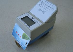 Contactless RF Card Prepaid Cold and Hot Water Meter pictures & photos