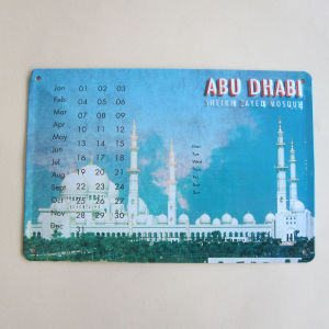 Custom Souvenir Metal / Tin Calendar, Tin Plate Card pictures & photos
