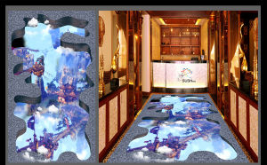 Chinese Architecture Cloud 3D Floor Sticker pictures & photos