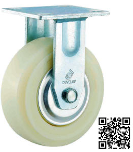 Heavy Duty White Nylon Caster (fixed) pictures & photos