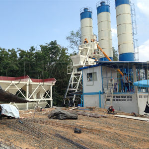 CE Certificate Hzs50 Stationary Concrete Mixing Station pictures & photos