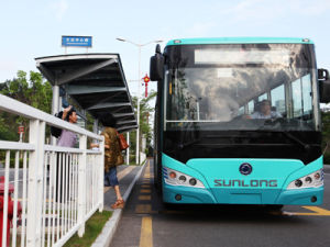 Sunlong Slk6129uschev02 EV City Bus pictures & photos