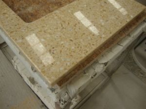 Wholesale Price for Sparkle Yellow Quartz Stone Countertop pictures & photos