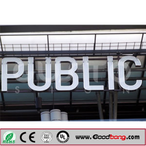 Chrome LED Illuminated Wall Mounted Outdoor Signage pictures & photos