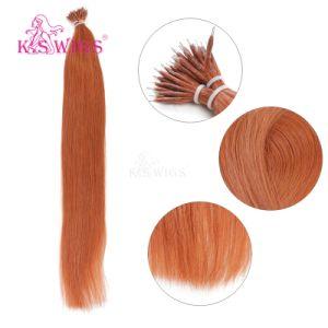 K. S Wigs Superior Quality Nano Ring Hair Keratin Hair Extension Brazilian Human Hair Extension 350# pictures & photos