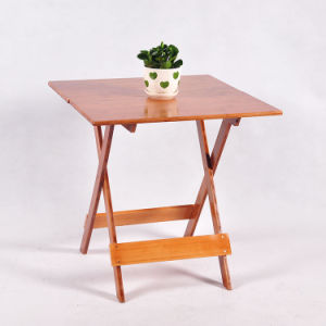 Simple Bamboo Folding Table Furniture Square Table Portable Dining Table pictures & photos