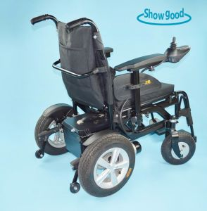 Showgood Mobility Aids Foldable Power Wheelchair Factory Electric Wheelchair with Brushless Motor for Disabled and Elderly