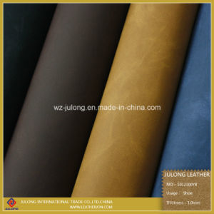 Printing Yangbuck Shoe PU Leather (S012) pictures & photos
