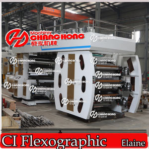 6 Color Non-Wovenfabric Flexographic Printing Machine/Machinery Satellite pictures & photos