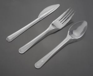 High Quality Clear PS Disposable Plastic Cutlery pictures & photos