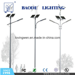 40W with Wind Hybrid Solar Street Pole Lighting (BDSW998) pictures & photos