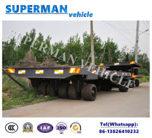 50t Utility Flatbed Cargo Transport Industrial Drawbar Trailer for Heavy Duty pictures & photos