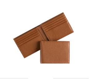Low MOQ Wholesale Custom RFID Blocking Genuine Men′s Leather Wallet