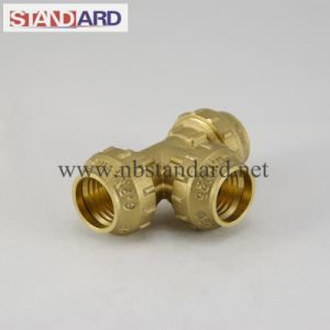Equal Tee Brass PE Fitting pictures & photos
