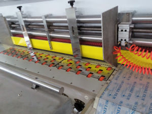 Automatic Flexo 2 Color Printing Slotting Die-Cutting Gluing Strapping Inline Machine
