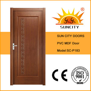 Best Selling Knotty Pine PVC Wooden Door Design (SC-P183) pictures & photos