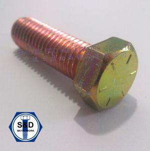 SAE J429 Grade8 Hex Head Cap Screw/Bolts Zinc Yellow pictures & photos