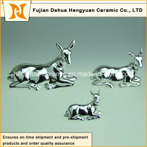 Sika Deer Ceramic Money Bank for Children′s Christmas Gift pictures & photos