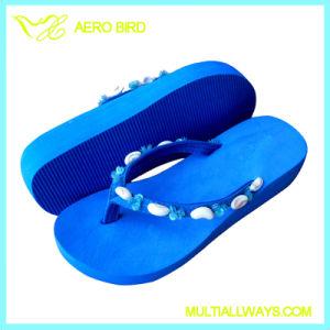 Cute Printing Girls High Heel Fashion Flip Flops Slipper pictures & photos