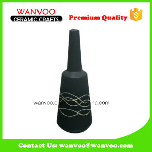 New Design Custom Black Ceramic Flask Vase Painting Wave pictures & photos