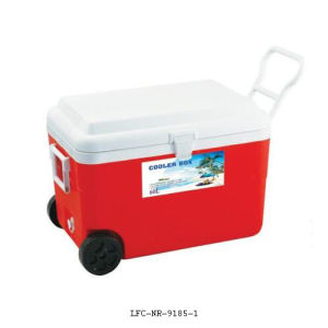 Plastic Insulated Ice Cooler Box Wheel Leisure Cooler 60L pictures & photos