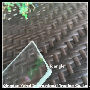 4mm R-Angle Unltra-White Float Glass with Rough Grinding Edge pictures & photos
