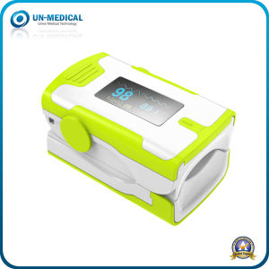 New Arrival-Fingertip Pulse Oximeter (white yellow) pictures & photos