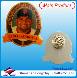 Lapel Pin Badge with Epoxy Metal Badge Making Machine pictures & photos