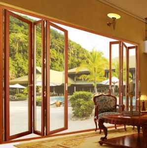 Aluminium Folding Door Tempered Double Glass Door Single Glazing Folding Door