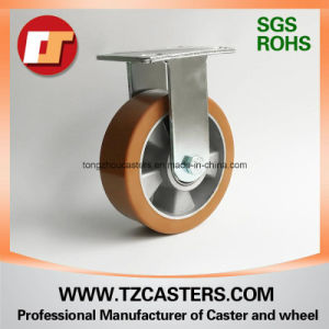 Fixed Caster with Heavy Duty PU Wheel Aluminum Center 125*50 pictures & photos