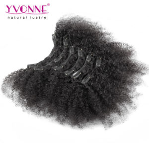 Afro Kinky Clip in Hair Extensions Human Hair pictures & photos