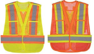 Traffic Reflective Vest Made of Polyester Mesh Fabric (DFV1201) pictures & photos