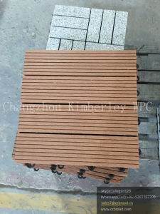 WPC Interlocking Solid Decking Tile pictures & photos