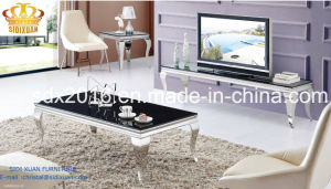 1.2mm Thickness Stainless Steel Frame Coffee Table Sj802 pictures & photos