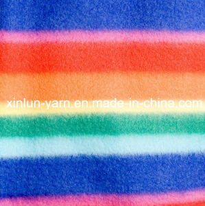 Knitted Custom Printed Polar Fleece Fabric for Cap Jacket pictures & photos