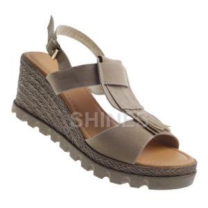 Tan Ladies Fashion High Heel Sandal