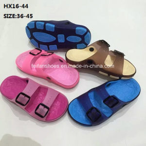 Lady and Men Colorful Casual Summer Beach Slipper PVC Slipper Sandal Shoes (HX16-44) pictures & photos
