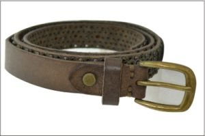 Cool Neutral Genuine Leather Lady′s Belt pictures & photos