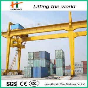 Double Girder Rail Mounted Container Gantry Crane Price pictures & photos